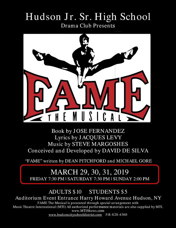 """FAME: The Musical"" (March 29-31, 2019)"