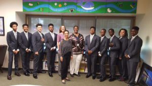 my brother's keeper participants wore new suits to meet with the superintendent and business administrator