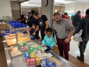 Dads and father figures joined students for annual Dads Breakfast event