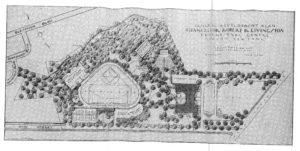 old design sketch for Livingston Educational Center 1932