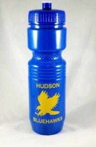 Hudson Bluehawks water bottle