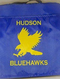 Hudson Bluehawks seat cushion