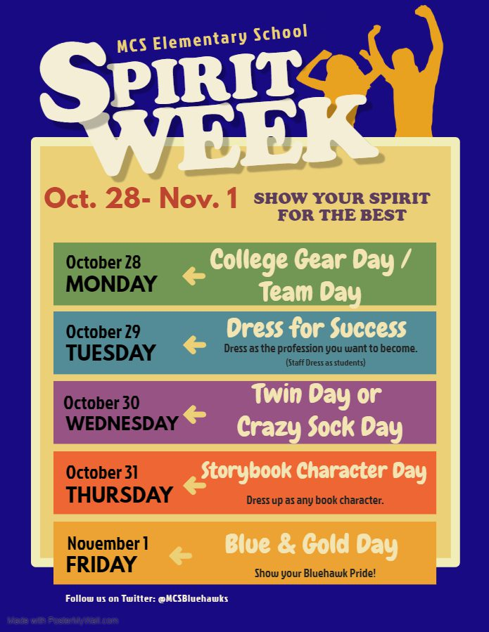 daily themes for spirit week