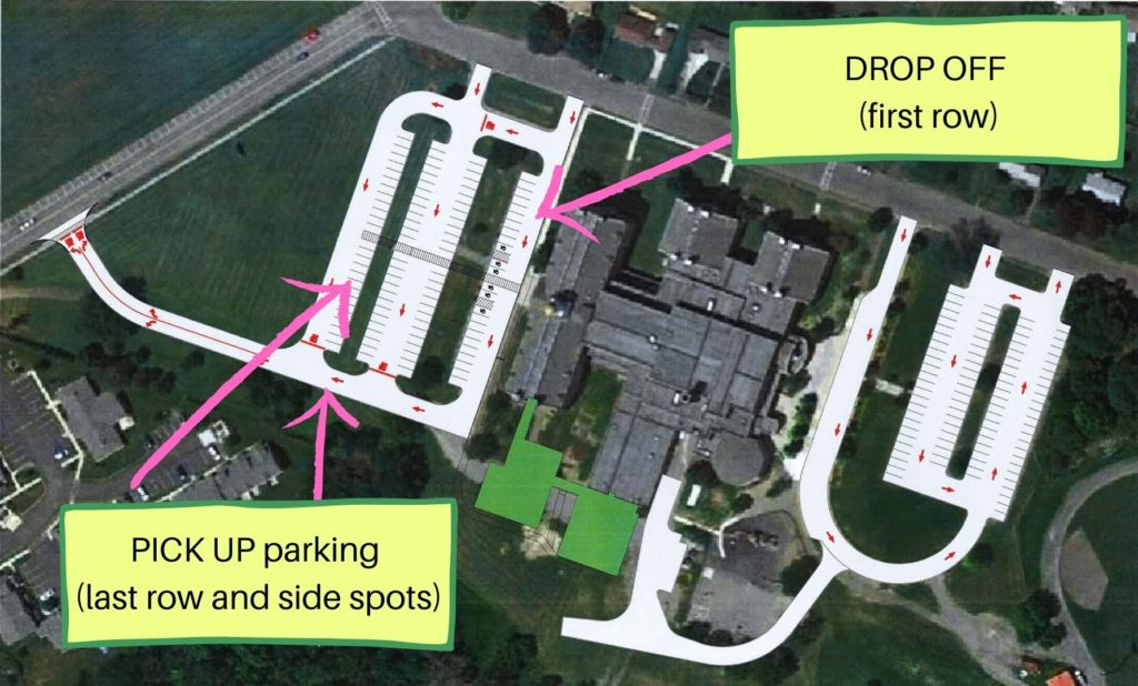 aerial map of parent parking