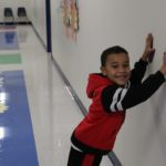 Wall push-ups are one of the sensory path activities.