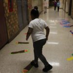 There is a second sensory path in the Art hall.