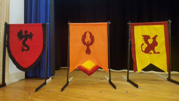 three banners