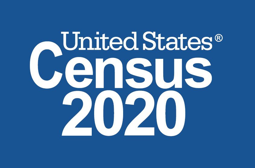 United States Census 2020 logo blue