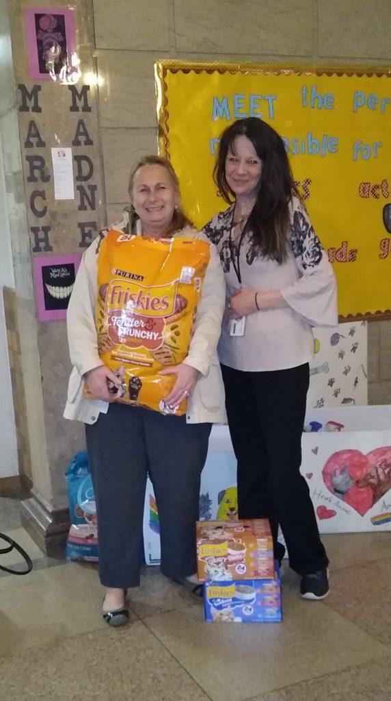 Mrs. Cipollari donates pet food