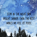 haiku over starry background