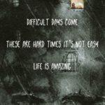 haikue over illustrated rainy background