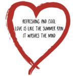 haiku in red heart