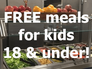 free meals for kids 18 and under