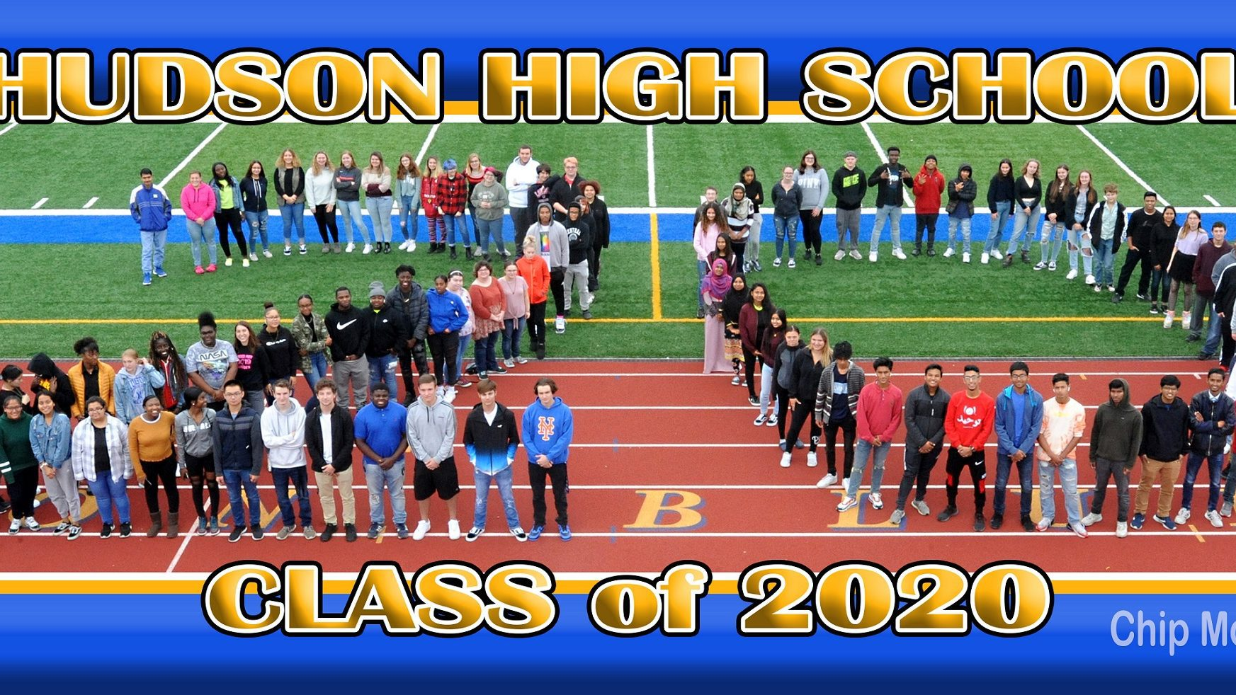 aerial photo of the Class of 2020