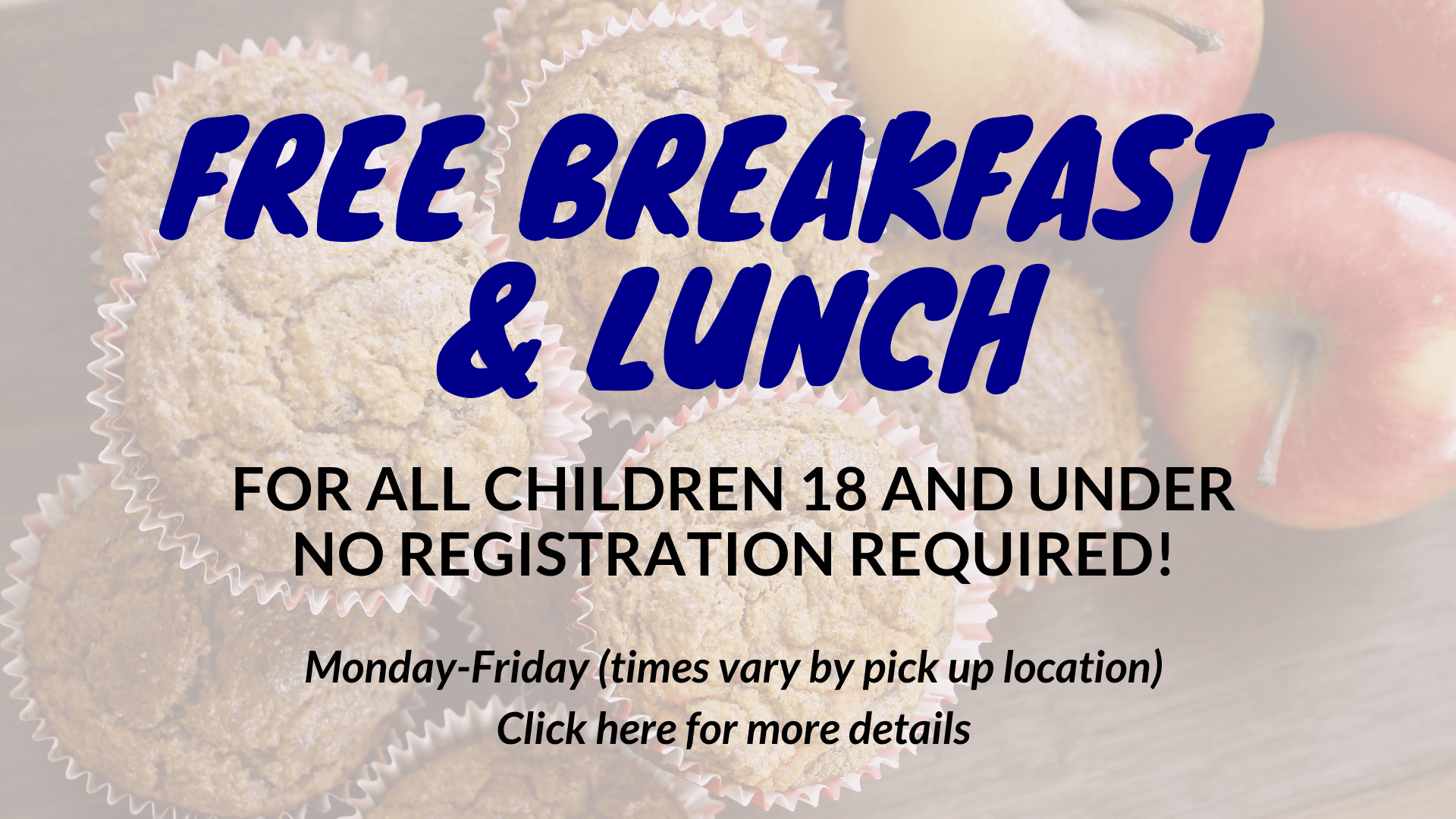 free breakfast and lunch click for details