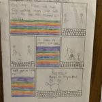 student comic about how they show respect