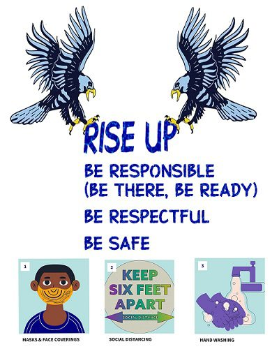 rise up, be responsible, be ready, be respectful, be safe