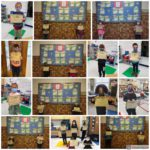 photo grid of elementary students holding Kindness Certificates