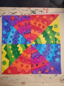 colorful radial drawing