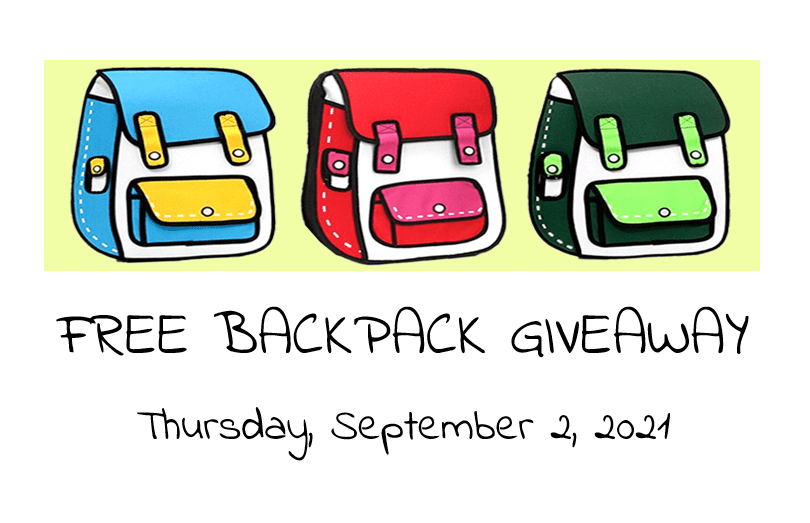Free Backpack Giveaway