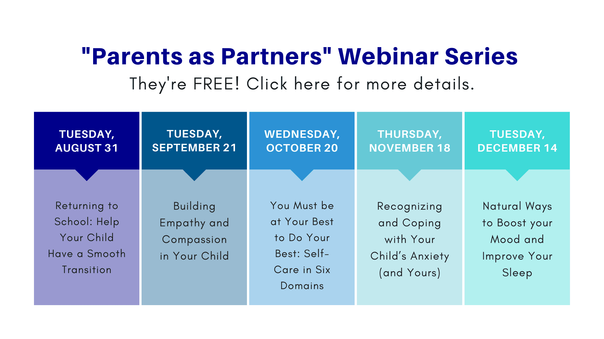 free parent webinar series click here for more details