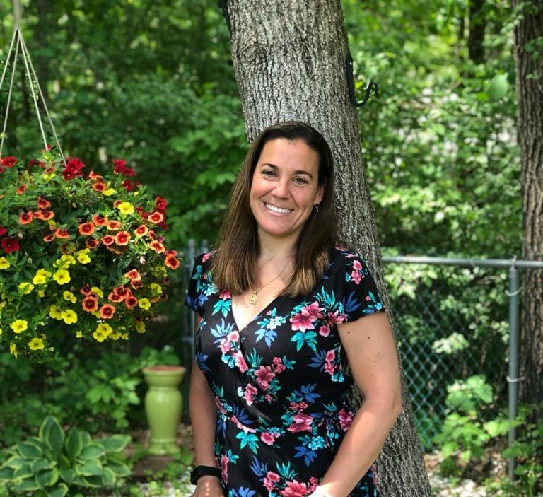 Dr. Trini Hernandez in her garden